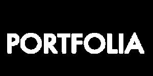 Portfolia logo white